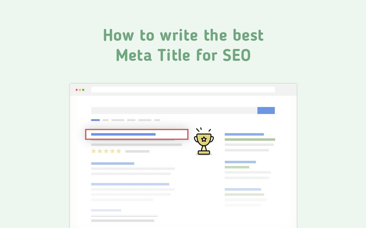 How to write the best Meta Title for SEO